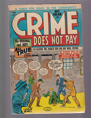 CRIME DOES NOT PAY #68 -- 1948 Lev Gleason -- Charles Biro Cover -- VG-