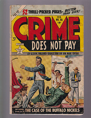 CRIME DOES NOT PAY #95 -- 1951 Lev Gleason -- G/VG