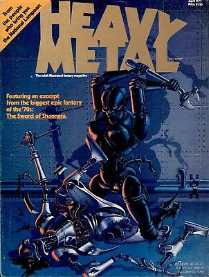 Heavy Metal Magazine Digital Collection Of 200+ Issues On Dvd