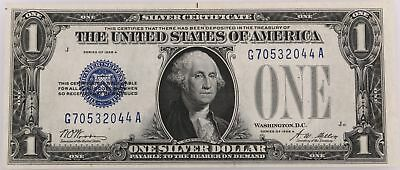 1928 A US Blue Seal UNC One Dollar $1 Small Silver Certificate Bill Funny Back