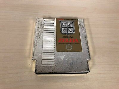 The Legend of Zelda Nintendo NES Game Cartridge Original Cart Gold
