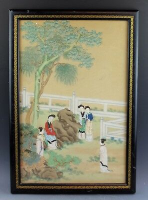 Chinese Hand Painting On Paper With Frame