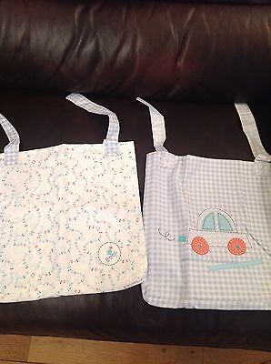 Mothercare Little Beep Beep Pack Of 2 Cot Pockets ** Brand New **