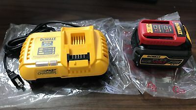 New Dewalt Dcb606 Flexvolt 20V-60V 6.0Ah Battery, Dcb118 Fan Cooled Fast Charger