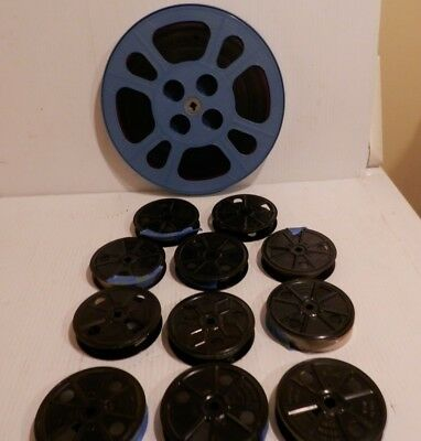 Metal 16mm Film Reels - lot of 11- 3.5 and one  plastic 10.5