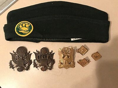 WW2 Era Civilian Conservation Corps (CCC) Hat, Cap Badges and Insignia