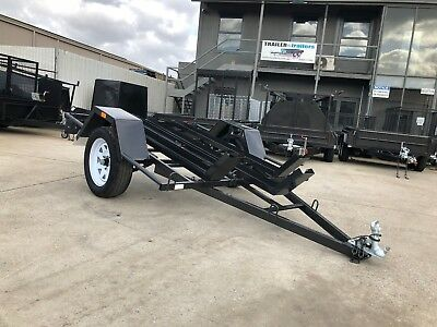6x4 SINGLE AXLE LIGHT DUTY MOTORBIKE TRAILER | 3 BIKE CHANNELS |NEW WHEELS+TYRES