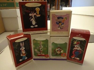 Looney Tunes Hallmark Ornaments, Lot of 6