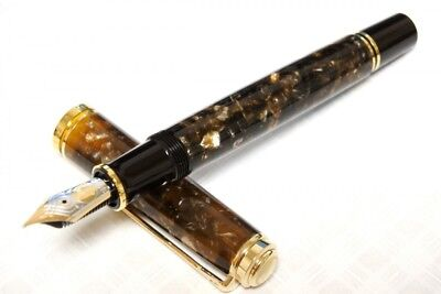 Pelican Fountain Pen  Renaissance Brown M800 K18 Nib M Limited from Japan F/S