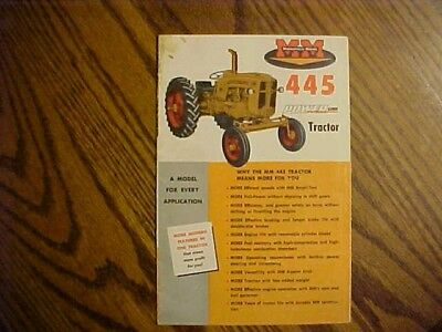 1960's Minneapolis-Moline Brochure, 445 Tractor  10 pages
