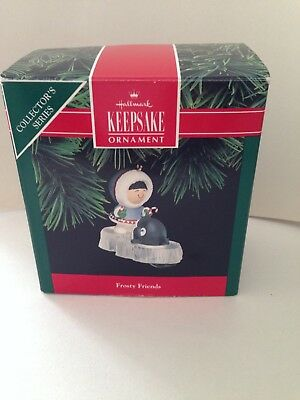 Frosty Friends 1992 Ornament in Box, EX condition