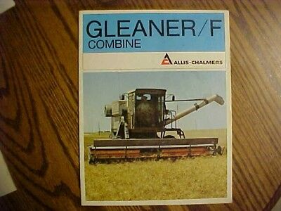A 1960's Allis-Chambers-Gleaner Combine F  Brochure  15 pages