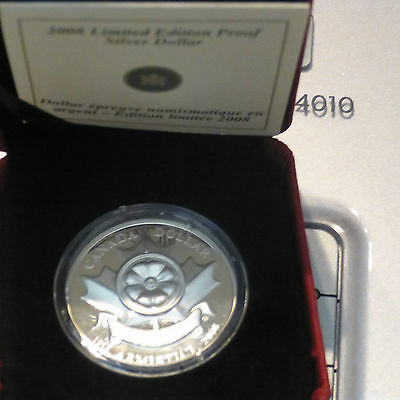 2008 Canadian DollarSpecial Limited Edition Armistice Poppy-mintage- 4,994