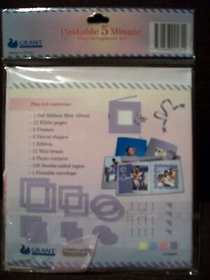 Postable 5 Minute Mini Scrapbooking Kit - brand new, never opened