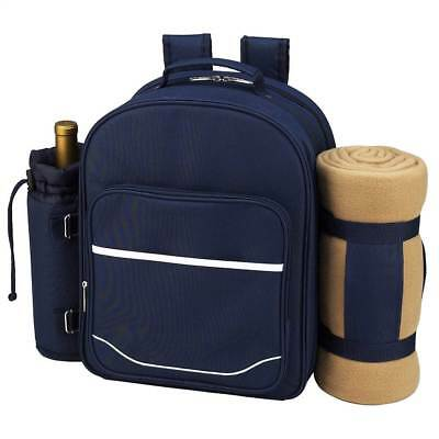 Blue Picnic Backpack for 4 with Blanket [ID 2312363]