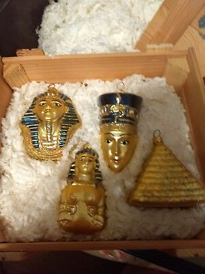 Egyptian Polonaise Collection -Ornaments - 4 pcs in box -Artist Kurt S. Adler