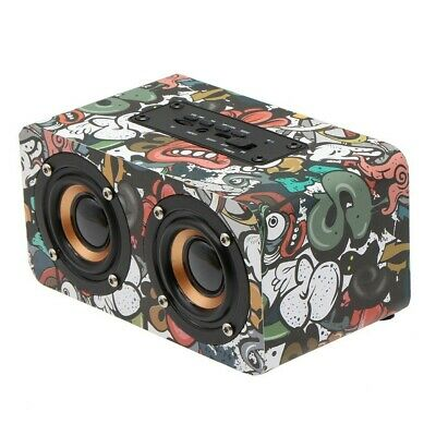 Mini Retro Wooden Subwoofer Wireless Bluetooth Speaker Super Bass Loudspeaker