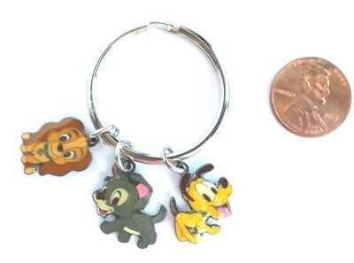 Disney Dogs Pluto Lady Tramp Charms Key Chain