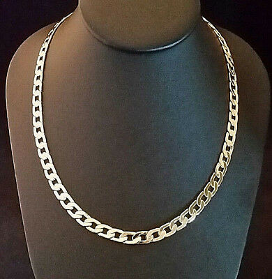 VTG GOLD CHAIN NECKLACE Curb Link Thick MENS Markd 14k Gold but Failed Acid Test