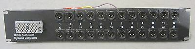 24-Port Male XLR  Patch Panel with EDAC