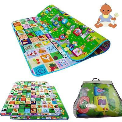 2X 2 Side Kids Crawling Educational Game Baby Play Mat Soft Foam Carpet Large KD