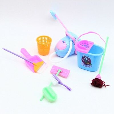 9Pcs Home Furniture Furnishing Cleaning Cleaner Kit For Doll House