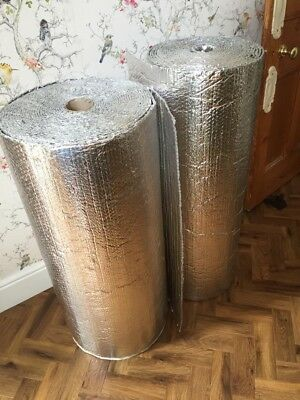 Double Foil With Single Air Bubble Layer Aluminium Wrap Insulation Approx 36m Sq