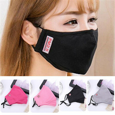 Washable Cotton Face Mouth Mask PM2.5 Anti Dust Pollution Haze Filter Respirator