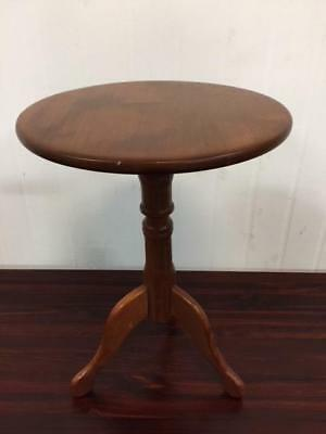 E38006 Vintage Pine Wine Table Side Table Occasional