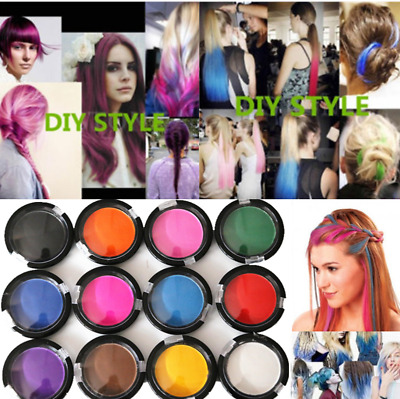Non-toxic DIY Temporary Hair Chalk Special Color Dye Pastels Salon Kit 12 Colors