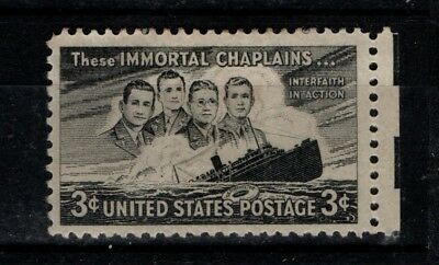 United States 1948 Those Immortal Chaplains SG 953 Mint MH