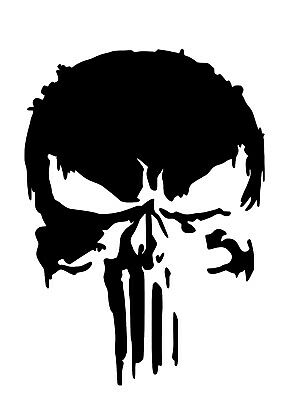 High Detail Punisher Skull Airbrush Stencil - Free UK Postage