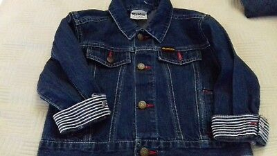 Osh Kosh boys blue jean jacket used a couple of times excellent condition size24