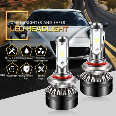 HB3 9005 LED Headlight Bulbs 6500K 6000LM High Beam Cool White SEOUL Chips