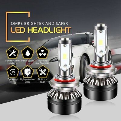 HB3 9005 LED Headlight Bulbs High Beam 6500K Cool White 6000LM SEOUL Chips
