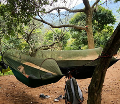 New Double Outdoor Person Travel Camping Hanging Hammock Bed With Mosquito Net