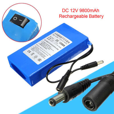 High Quality Portable DC 12V 9800mAh Lithium Rechargeable Battery 5.5X 2.1mm