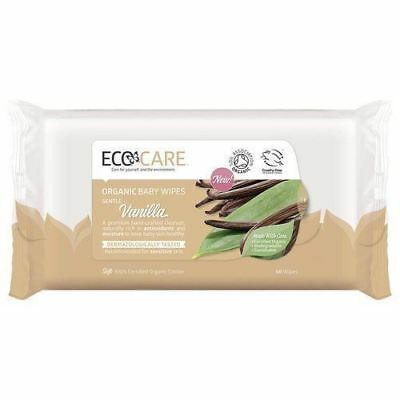 Ecocare Org Baby Vanilla 60Wipes (10 Pack)