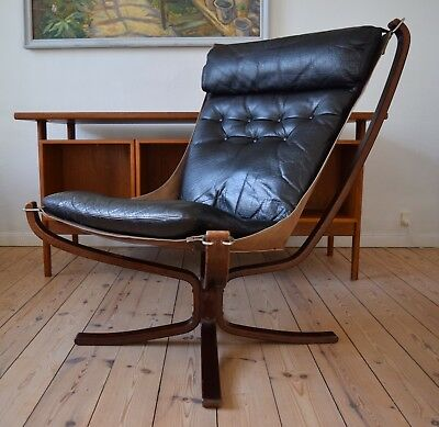 Mid-Century Black Falcon Chair by Sigurd Ressel for Vatne Møbler, 1970s