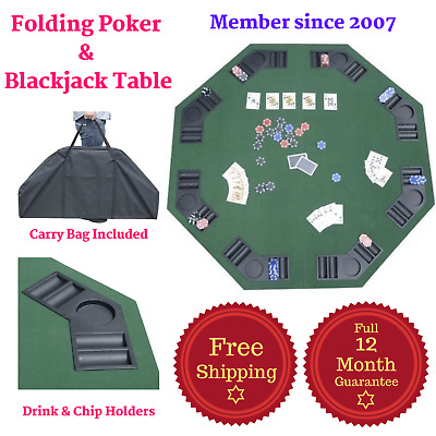 Poker Blackjack Table Portable Bonus Carry Bag 8 Player Texas Holdem Casino