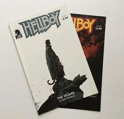 Hellboy The Island Complete 2 Issue Lot Dark Horse Comics Mike Mignola 2005