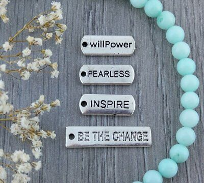 Affirmation Word Charms - Inspire Be the Change Willpower Fearless CH141