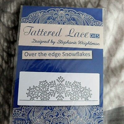 OVER THE EDGE SNOWFLAKES DIE D927 - Tattered Lace Stephanie Weightman