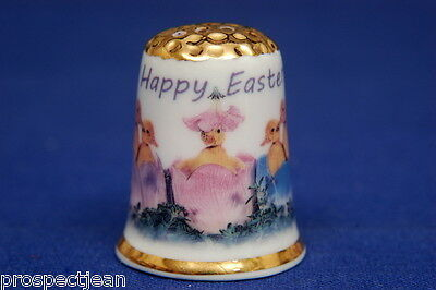 Happy Easter-Have A Knacken Good Time Gold Top China Fingerhut B / 150