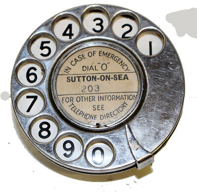 Early telephone dial working order