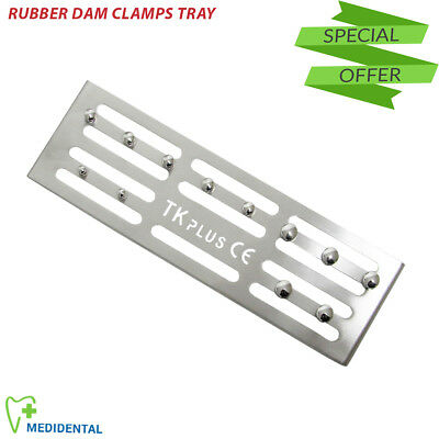 Dentist Rubber dam Endodontic Clamps Holding Tray Sterilization Dental Tools New