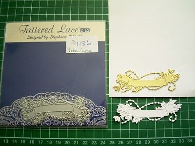 RIBBON SWAG DIE D1186 - TATTERED LACE Stephanie Weightman