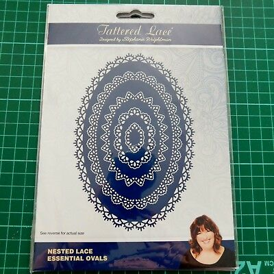 NESTED LACE ESSENTIAL OVALS 441151 - Tattered lace Stephanie Weightman