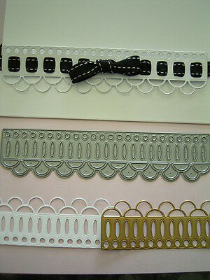 DOUBLE SCALLOP BORDER DIE X Whimsy - Check out sample pics for idea's