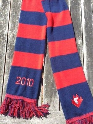 Melbourne Football Club 2010 Members' Scarf Featuring Demon's Head